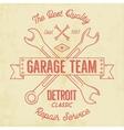 Garage service vintage tee design graphics vector image