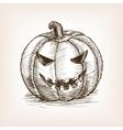 Jack O Lantern sketch vector image