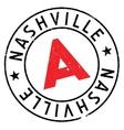 Nashville stamp rubber grunge vector image