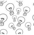 bulb seamless pattern design vector image