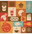 Retro Food Icons vector image vector image