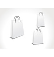 set of three paper shopping bags vector image