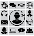 Call support icon set vector image