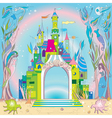 underwater castle vector image