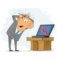 businessman tearing hair vector image