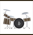 electronic drum system vector image