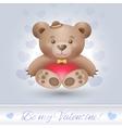 Gentle Teddy bear boy in love vector image