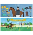 Horse Race Banners vector image
