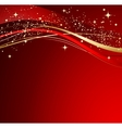 Red christmas abstract background vector image