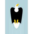 Rise of bald eagles Flight of bird of prey Big vector image