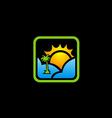 sun shine tropic travel icon vector image