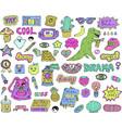teen stickers set vector image