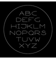 Thin lined modern alphabet vector image