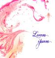 Watercolor ebru backdrop vector image