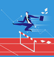business steeplechase concept vector image
