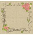 doodle floral frames vector image vector image