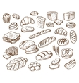 bread on white background vector image vector image