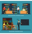 Science and education college students vector image