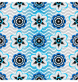 Seamless white-gray-blue floral pattern vector image