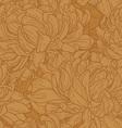 seamless pattern with chrysanthemum vector image