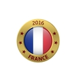 France 2016 label vector image vector image