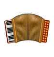 accordion musical instrument vector image