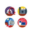 Audio device set vector image