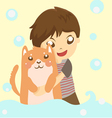 dog and me vector image