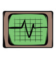 electrocardiogram monitor icon cartoon vector image