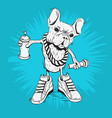 french bulldog rap star with hip hop essentials vector image