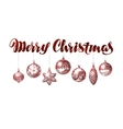 Merry Christmas banner Vintage xmas decoration vector image