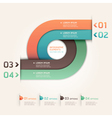 Modern arrow circle origami style options banner vector image
