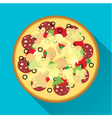 Pizza flat design vector image