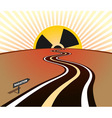 radiation infection road horizon sunrise vector image
