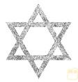 star of david icon symbol israel judaism black vector image