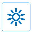Sun icon cartoon sign vector image
