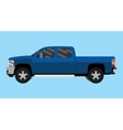 suv truck car pickup isolated blue big vector image