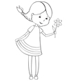 Girl with flowers vector image vector image
