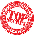 Top secret stamp vector image vector image
