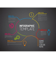 Modern Infographic report template made from lines vector image vector image