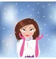 Beautiful stylish girl in Christmas vector image vector image