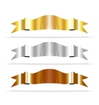 Metalic Ribbons for your Design Project vector image
