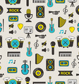 Seamless pattern with music equipment vector image