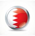 Bahrain flag button vector image