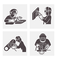 Welding icons vector image