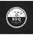 Barbecue label vector image