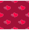 mooving hearts seamless pattern in modern vector image