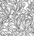 seamless pattern with chrysanthemum vector image vector image