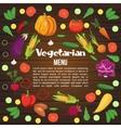 Vegetables Flat Menu vector image