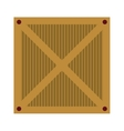 wooden box isolated icon design vector image